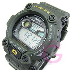规范低耐高温绿色手表卡西欧 g 冲击 G 冲击西欧潮汐图 G-7900-3DR/G-7900-3
