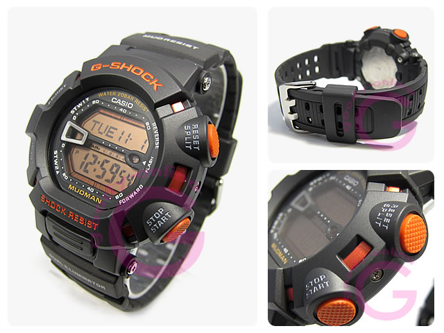 CASIO g-shock (CASIO g-shock) G-9000MX-8/G 9000MX-8 MUDMAN / madman dust-proof mud black × orange men's watch