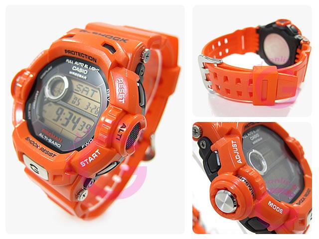 CASIO G-SHOCK(G打击)G-9200R-4DR/G9200R-4DR RISEMAN/上升人员强壮的太阳能救援橙子人表手表