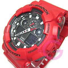 卡西欧 g-休克 (卡西欧 G 休克) 一-100B-4A/a100b-4A 模拟数字组合速度测量红色男装手表