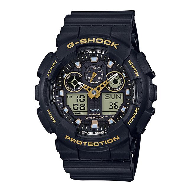 CASIO G-SHOCK カシオ Gショック GA-100GBX-1A9/GA-100GBX-1A9 アナデジ ブラック/ゴールド メンズウォッチ 腕時計 日本版型番:GA-100GBX-1A9JF/GA100GBX-1A9JF