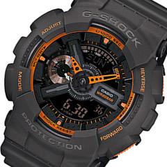 【並行輸入品】 CASIO G-SHOCK カシオ Gショック GA-110TS-1A4/GA110TS-1A4 アナデジ グレー×オレンジ メンズウォッチ 腕時計 日本版型番GA-110TS-1A4JF/GA110TS-1A4JF