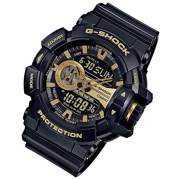 CASIO G-SHOCK カシオ Gショック GA-400GB-1A9/GA400GB-1A9 アナデジ ブラック/ゴールド メンズ 腕時計 日本版型番:GA-400GB-1A9JF/GA400GB-1A9JF