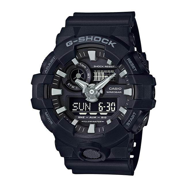 【並行輸入品】 CASIO G-SHOCK カシオ Gショック GA-700-1B/GA700-1B ベーシック アナデジコンビ ブラック スーパーイルミネーター メンズウォッチ 腕時計 【あす楽対応】