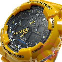 【並行輸入品】 CASIO G-SHOCK カシオ Gショック GA-100A-9A/GA100A-9A アナデジコンビ 速度計測 イエロー メンズウォッチ 腕時計