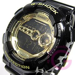 【並行輸入品】 CASIO G-SHOCK カシオ Gショック GD-100GB-1/GD100GB-1 高輝度LEDバックライト ブラック×ゴールド メンズウォッチ 腕時計 【あす楽対応】