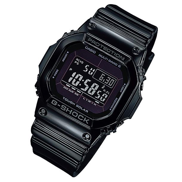 【並行輸入品】 CASIO G-SHOCK カシオ Gショック GW-M5610BB-1/GWM5610BB-1 Grossy Black Series/グロッシー・ブラックシリーズ マルチバンド6 タフソーラー メンズウォッチ 腕時計