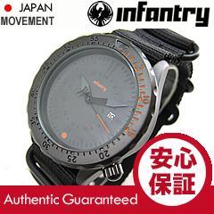 步兵步兵) 中-037-ORBK 黑色 x 黑人祖鲁语带军用手表和男装手表声 / 全黑的橙色挡板