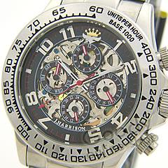 【正規品】J.HARRISON(ジョンハリソン) JH-003RB フルスケルトン メンズ 自動巻き 24時間表示 腕時計【あす楽対応】