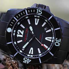 【世界限定ウォッチ】LUM-TEC/LUMTEC(ルミテック) 300M-2XL 自動巻き ダイバーズウォッチ 300m防水 45mm チタンカーバイドPVD 替えベルト付き 脅威の蓄光 メンズウォッチ 腕時計