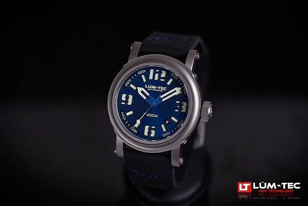 【世界限定ウォッチ】LUM-TEC/LUMTEC(ルミテック) Abyss 400M-2 400Mシリーズ Miyota 9015自動巻き ムーブメント搭載 チタンカーバイドPVD ネイビー メンズウォッチ 腕時計