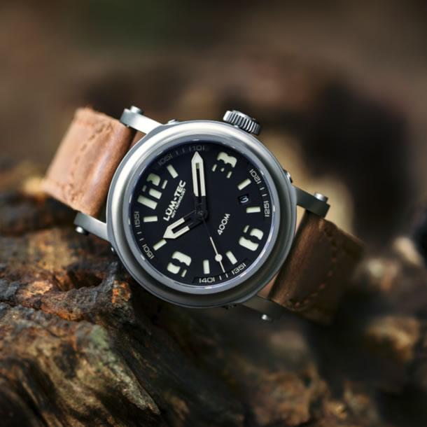 【世界限定ウォッチ】 LUM-TEC/LUMTEC(ルミテック) Abyss 400m-3 42mm 自動巻き Miyota 9015ムーブメント採用 チタンカーバイドPVD メンズウォッチ 腕時計 【楽ギフ_包装選択】