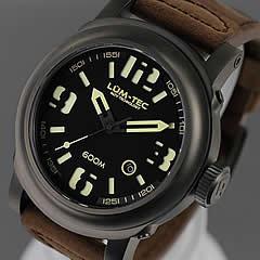 【世界限定生産】 LUM-TEC/LUMTEC(ルミテック) 600M-3 Abyssシリーズ 日本製 Miyota 9015自動巻きムーブメント搭載 600M防水 レザーベルト ブラウン 腕時計