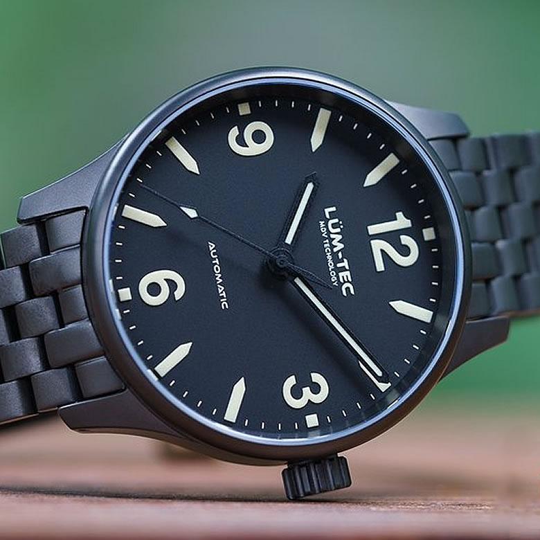 【世界限定ウォッチ】LUM-TEC/LUMTEC(ルミテック) C7 Auto C series/Cシリーズ セイコー製 NH35 自動巻きムーブメント ブラックPVD仕上げ メンズウォッチ 腕時計