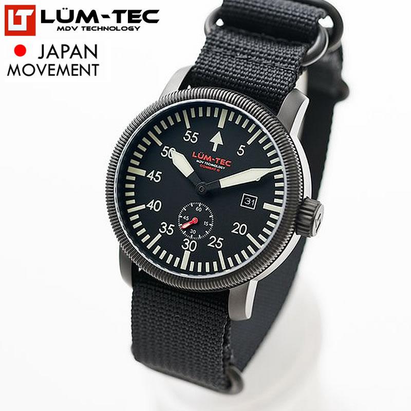 【200本限定生産】 LUM-TEC/LUMTEC ルミテック COMBAT B40 コンバット 43mm 日本製MIYOTA OT45ムーブメント採用 メンズ 腕時計【あす楽対応】