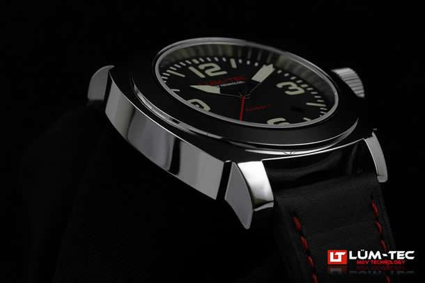 LUM-TEC (Rumtek) M63 M COBALT / cobalt 9015 Miyota automatic movement metallised with 40 mm red watch