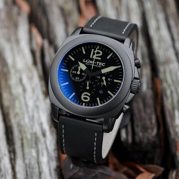 【100本限定生産】LUM-TEC/LUMTEC(ルミテック) M74 PHANTOM 44mm クロノグラフ Miyota OS20Jムーブメント採用 チタンカーバイドPVD ブラック メンズウォッチ 腕時計