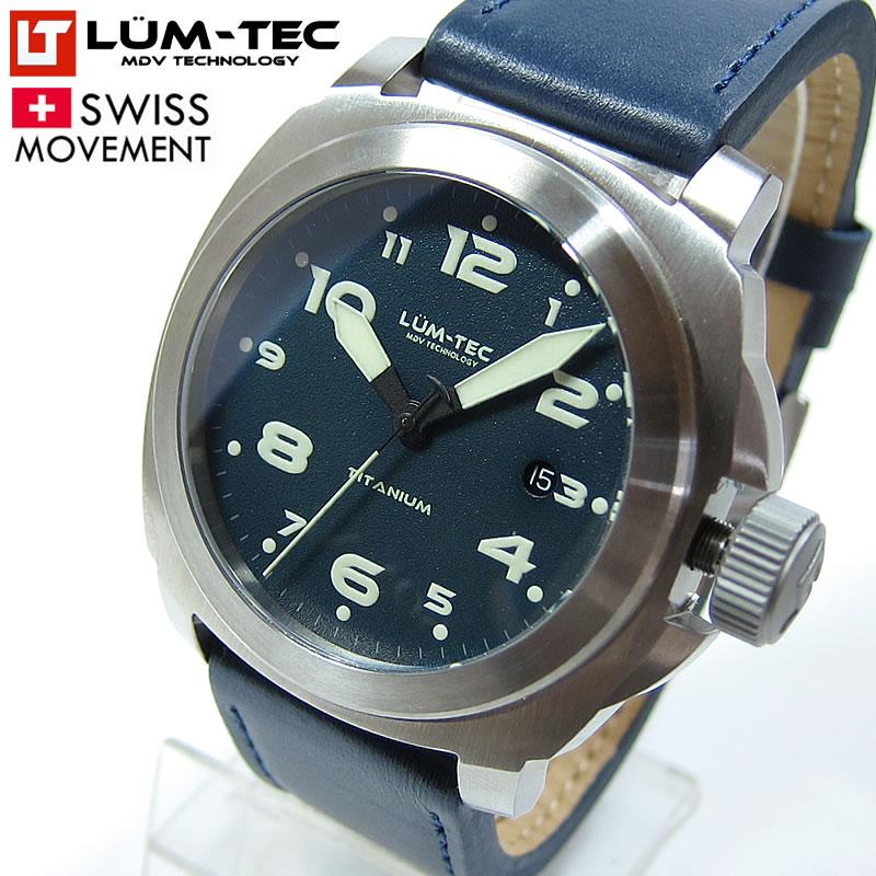 【85本限定生産】 LUM-TEC/LUMTEC (ルミテック) M76 チタニウム 44mm 自動巻き スイス製ETA 2824-2ムーブメント採用 メンズウォッチ 腕時計