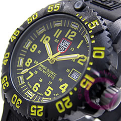 LUMINOX(Lumi敲门)7055≪T25表示≫NAVY SEALS深蓝希鲁斯彩色标记黄色女士手表
