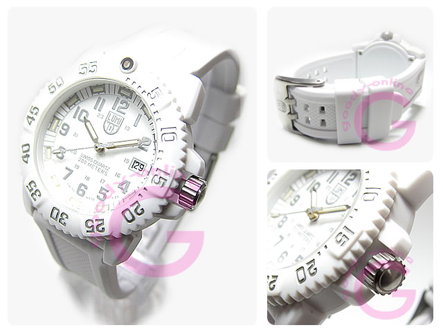 LUMINOX (Luminox) 7057 WO NAVY SEALS seals colormark white out T25 notation military ladies watch watches