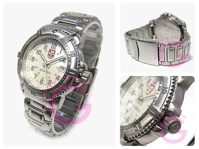 拿 (拿) 7258 «T25 查看» 海军密封件密封件 colormark 代表白色女士手表