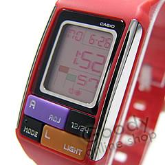 卡西欧 POPTONE (卡西欧波普通) LDF-50-4/LDF50-4 块 Pazzle / 块拼图红色中性手表手表