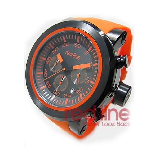 RED LINE(レッドライン)50050-BB-01-OAS Torque Sport/トルクスポート クロノグラフ ラバーベルト ブラック×オレンジ メンズウォッチ 腕時計【あす楽対応】