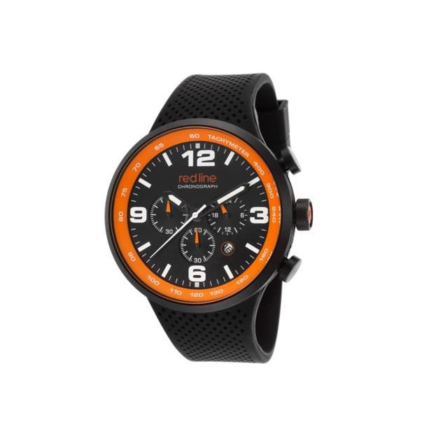 RED LINE (レッドライン) 50057-BB-01-OA APEX12 クロノグラフ ラバーベルト ブラック×オレンジ メンズウォッチ 腕時計【あす楽対応】
