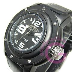RETROWERK(レトレック) R014/R-014 自動巻き Miyotaムーブメント ドイツ船舶モチーフ ブラックダイヤル メンズウォッチ 腕時計 【】