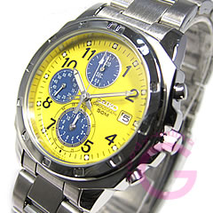 男子的SEIKO(精工)SND409P计时仪黄色表手表