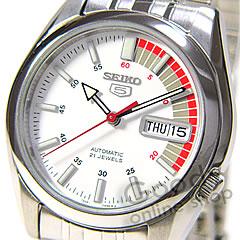 男子的SEIKO(精工)SEIKO5/精工5 SNK369K1自动卷金属白一对表手表