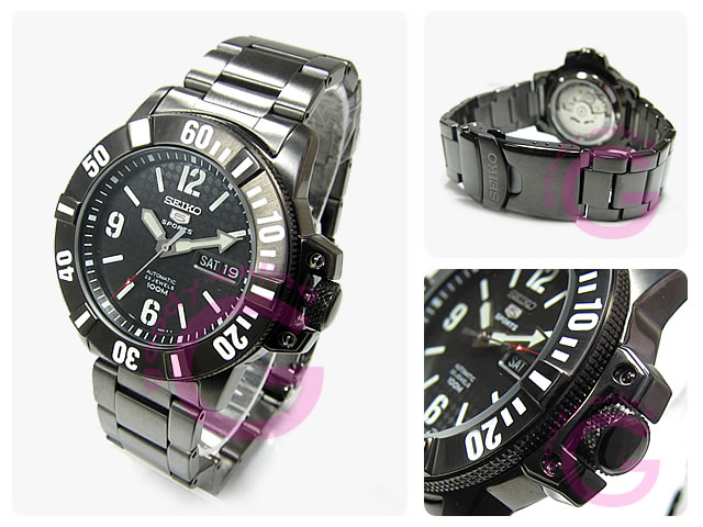 Winding SEIKO (Seiko) SEIKO5 / Seiko 5 sports SNZG85K1 automatic divers types represent black IP-Watch