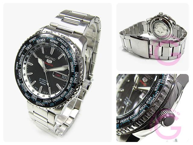 SEIKO(精工)SEIKO5/精工5 SRP127J1自动卷世界时间表示bezerumenzuuotchi手表