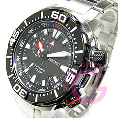 精工 (Seiko) 优 / 高级 SSA049J1 自动缠绕手表手腕手表黑色 IP 挡板视图排列