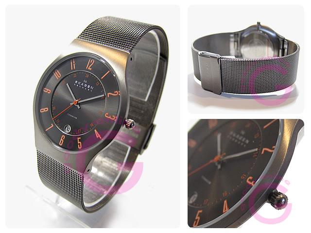 SKAGEN ( Skagen ) 233 XLTTMO ultra-slim titanium mesh Orange Germany another note model watch