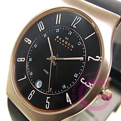 Ultra slim leather belt watch SKAGEN ( Skagen ) 233 XXLRLB