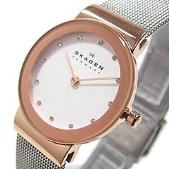 SKAGEN(スカーゲン) 358SRSC ウルトラスリム ステンレスメッシュベルト ピンクゴールド×シルバー レディースウォッチ 腕時計