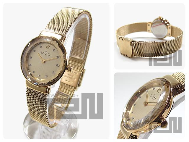 斯盖恩 (斯卡恩) 456 SGSG 超苗条切的巴塞尔黄金女式手表手表