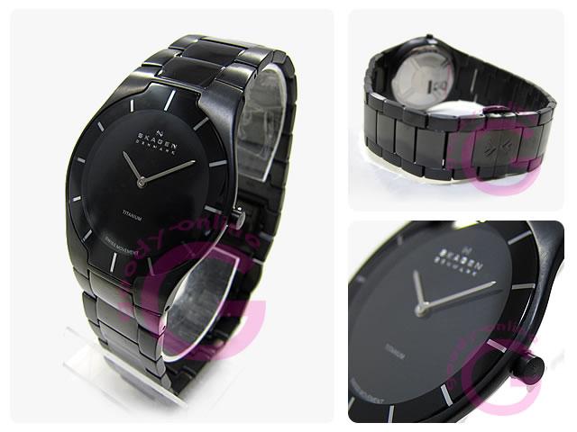 SKAGEN(sukagen)585XLTMXB BLACK LABEL/黑色标签超纤细钛黑色人表手表