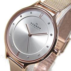 SKAGEN(スカーゲン) SKW2151 ウルトラスリム ステンレスメッシュベルト ピンクゴールド シルバーダイアル レディースウォッチ 腕時計