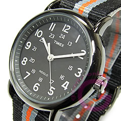 TIMEX (Timex) T2N892 Weekender/ week ender Central Park full size black military men watch import goods watch