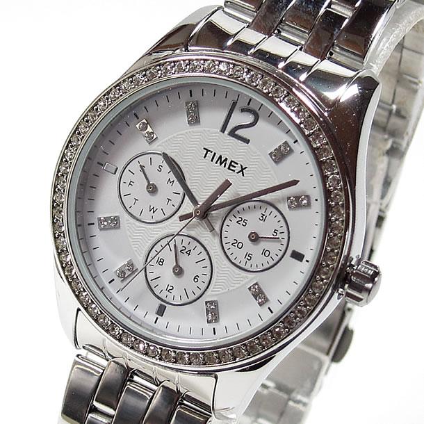 TIMEX (タイメックス) T2P192 Kaleidoscope/カレイドスコープ クリスタル装飾 メタルベルト シルバー レディースウォッチ 腕時計 【あす楽対応】