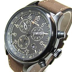 男子的TIMEX(Timex)T49905 Field Chronograph/场计时仪皮革皮带军事表进口商品手表