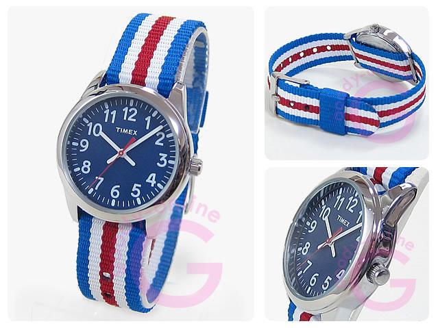 【メール便】 TIMEX (タイメックス) TW7C09900 TIMEX KIDS/タイメックスキッズ ナイロンベルト ブルー キッズ・子供にオススメ! かわいい! キッズウォッチ 腕時計 【あす楽対応】