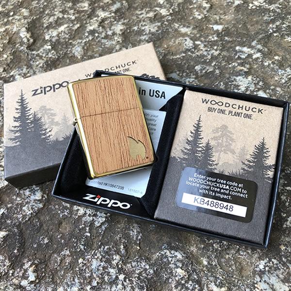 ZIPPO ジッポー Woodchuck USA Mahogany Emblem マホガニーエンブレム オイルライター レギュラーサイズ ウッド 29901【並行輸入品】