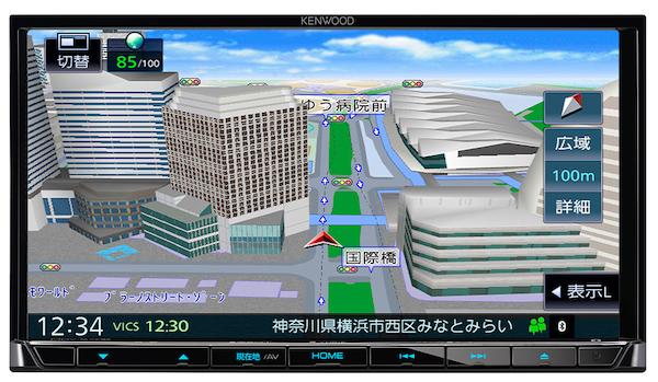 さらに見やすく 高価値 リアルで美しい地図表示 ケンウッド MDV-S708 人気上昇中 7V型 180mmモデル ハイレゾ対応 DVD 地上デジタルTVチューナー AVナビゲーション SD USB Bluetooth内蔵 専用ドライブレコーダー連携