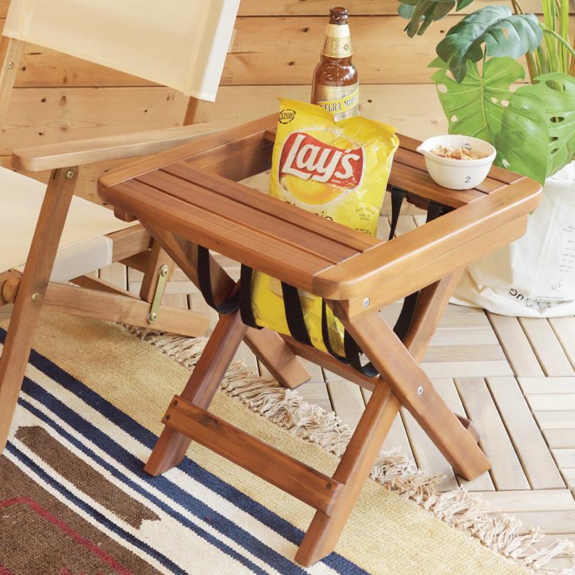 バレル マガジンラック 折りたたみ式ラック マガジンラック サイドテーブル ナイトテーブル 折り畳み コンパクト カフェ 省スペース 天然木