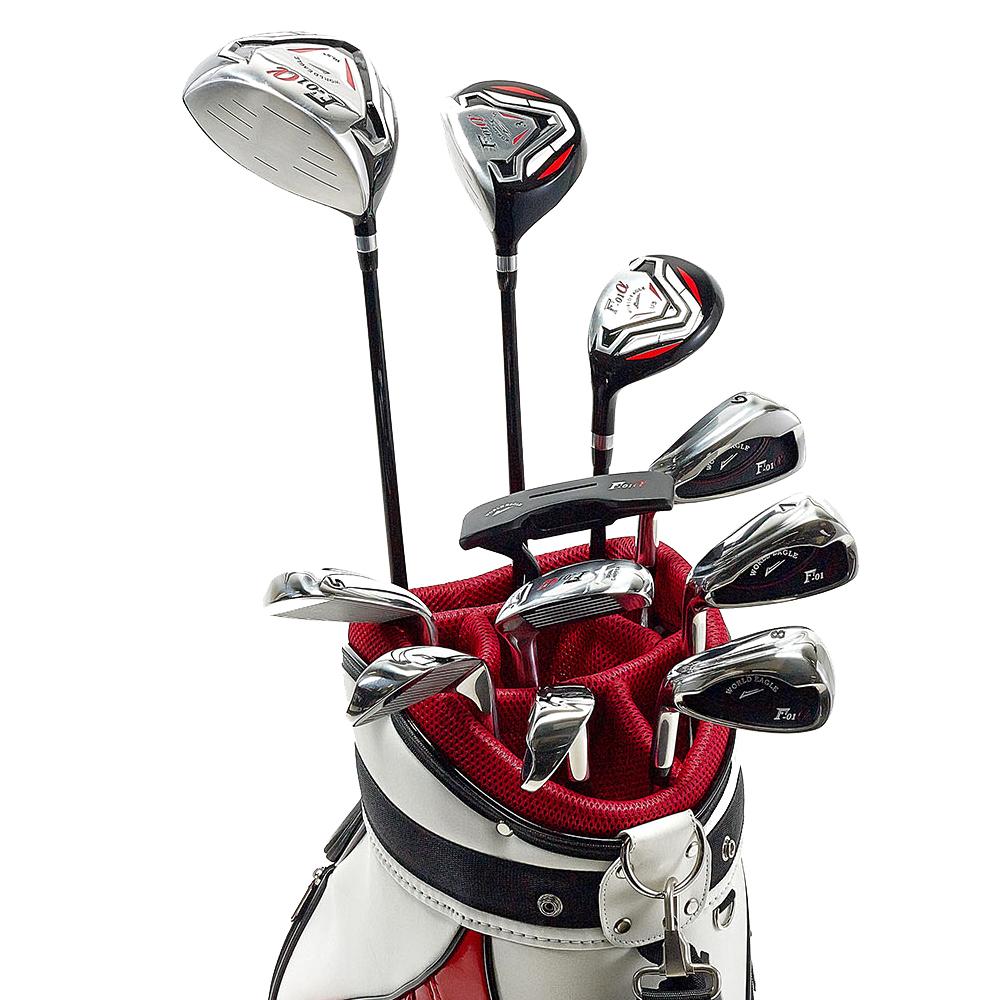 ワールドイーグル F-01αクロスモデル メンズ14点ゴルフクラブフルセット 左用 CBX003バッグ【初心者 初級者 ビギナー】【あす楽】