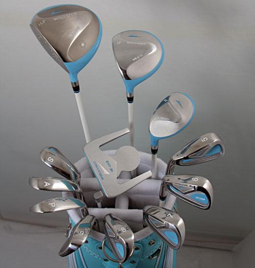 展示品アウトレット!キュートでポップなブルーでいこう!レディース16点ゴルフクラブフルセット 女性用/左用【初心者 初級者 ビギナー】【訳あり】【あす楽】