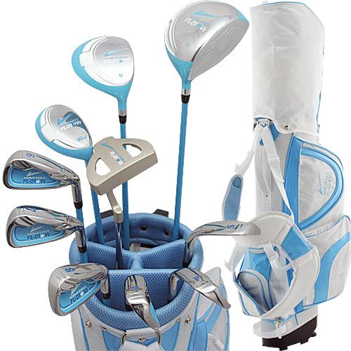 ワールドイーグル FL-01★V2 レディース13点ゴルフクラブセット ブルー【初心者 初級者 ビギナー】【add-option】